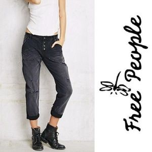 🌸HP!🌸 FREE PEOPLE Jeans Distressed BF Button Fly